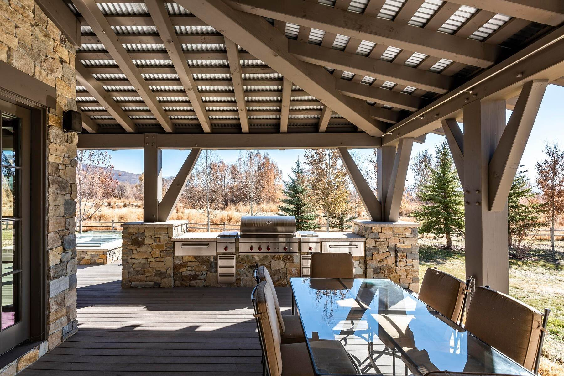 47. Single Family Homes for Sale at Picture-Perfect Contemporary Rustic Elegance on the Provo River 2370 N River Meadows Parkway Midway, Utah 84049 United States