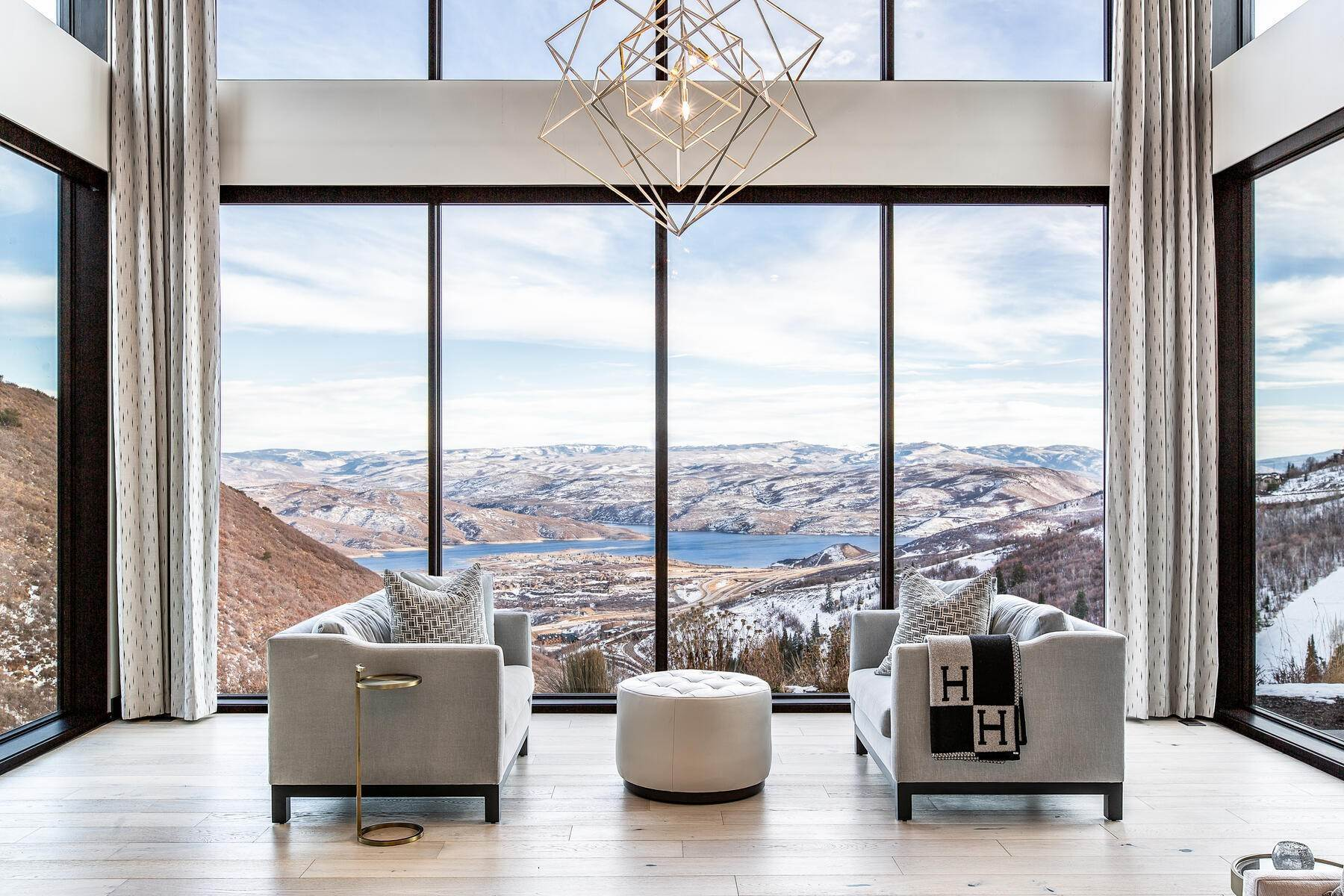 Single Family Homes for Sale at Stunning Contemporary Deer Valley Home with Amazing Lake and Resort Views 11325 N Snowtop Road Park City, Utah 84060 United States