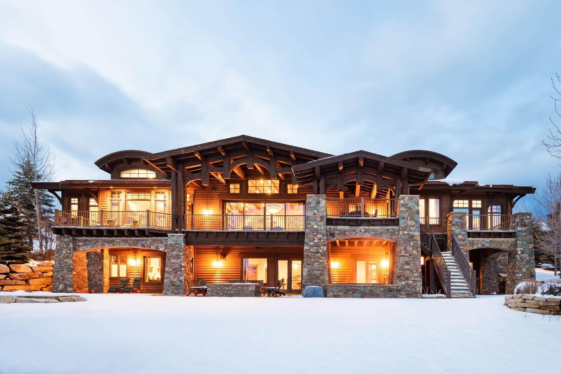 Single Family Homes for Sale at Ralph Lauren Meets Robert Redford - Welcome Home To Promontory's Painted Sky! 8136 N Ranch Club Trail Park City, Utah 84098 United States