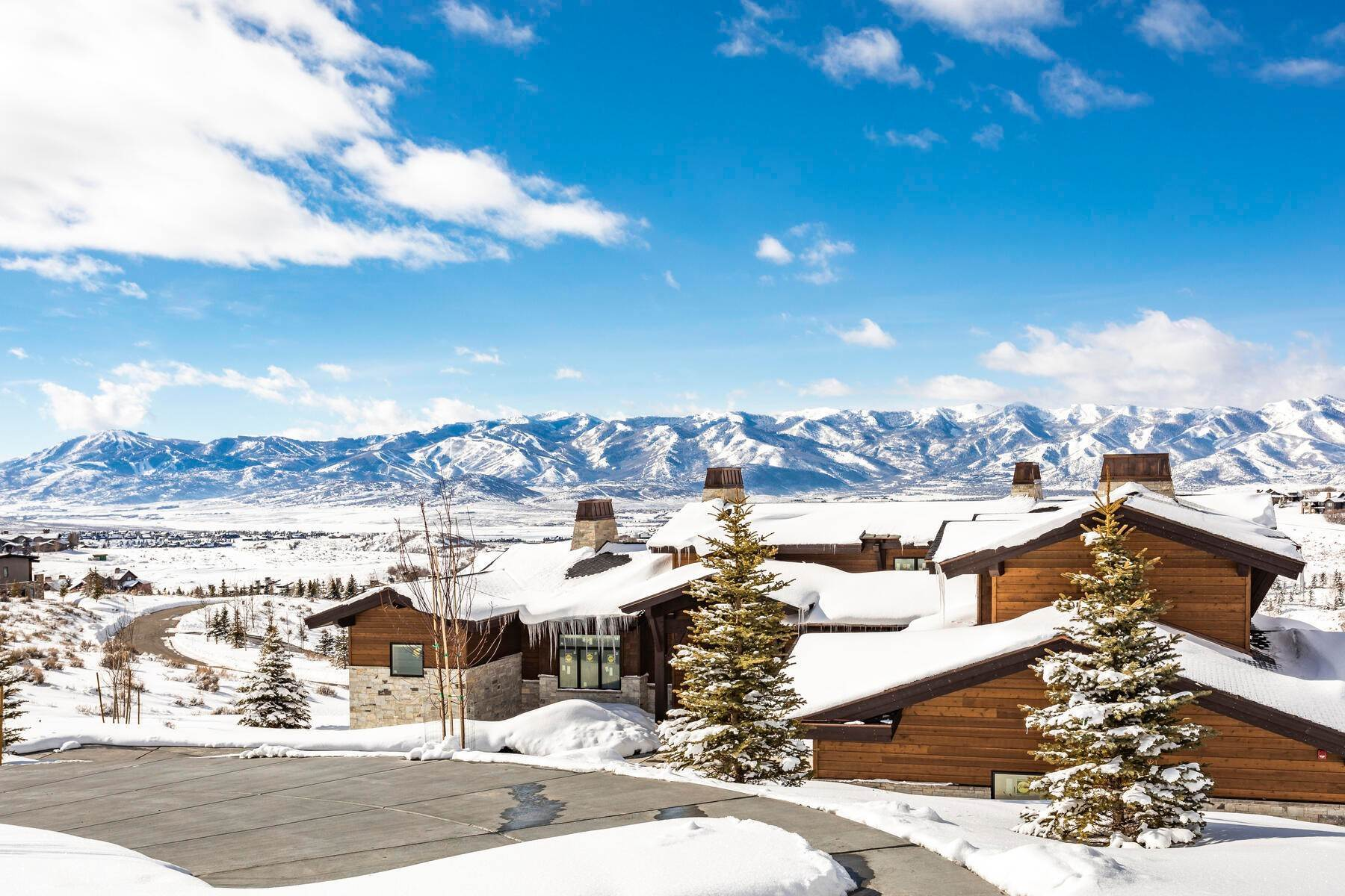Single Family Homes for Sale at Brand New Home With Huge Ski Resort Views 3388 Central Pacific Trail Park City, Utah 84098 United States