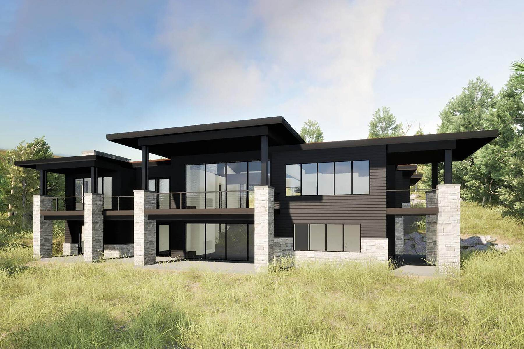 Single Family Homes for Sale at A Modern Masterpiece with Exquisite Mountain Views 7560 N West Hills Trail Park City, Utah 84098 United States