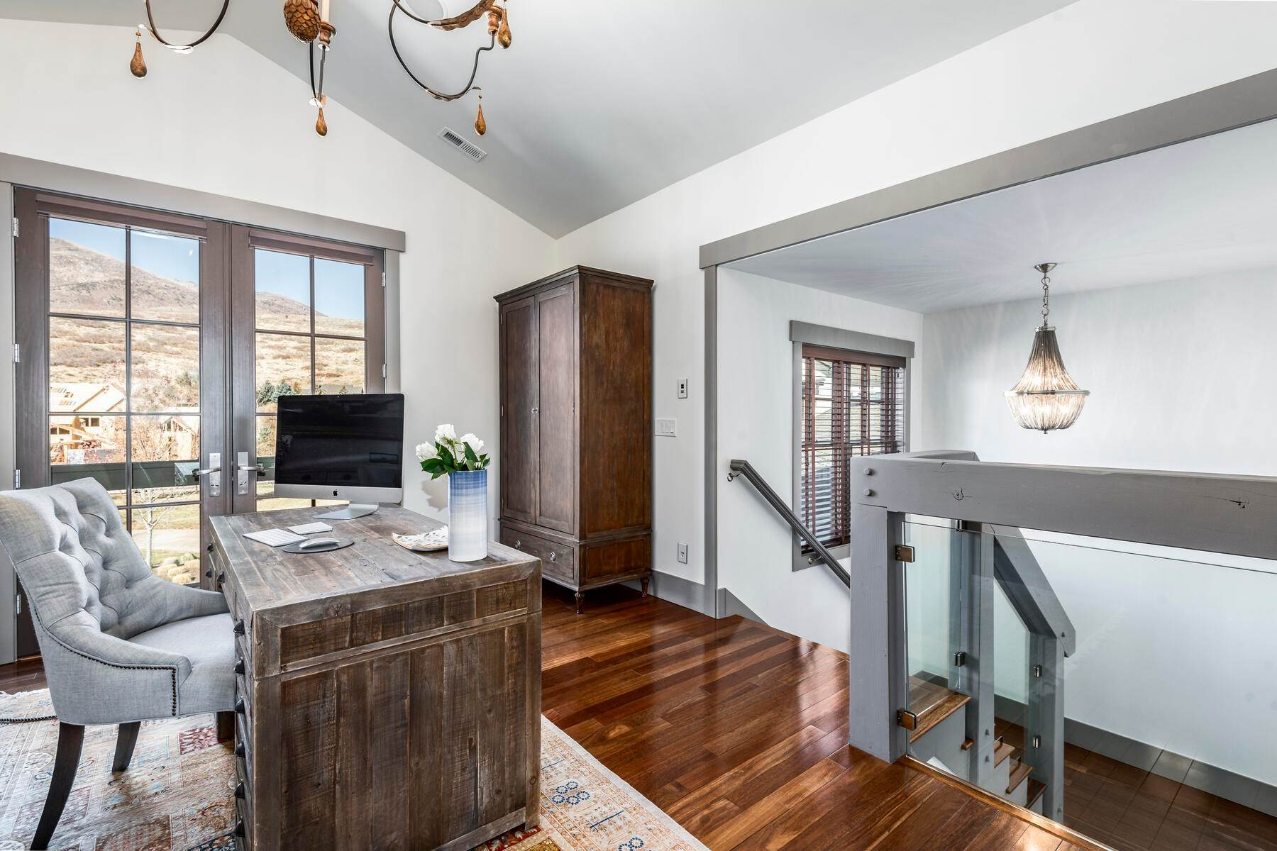 13. Single Family Homes for Sale at Picture-Perfect Contemporary Rustic Elegance on the Provo River 2370 N River Meadows Parkway Midway, Utah 84049 United States
