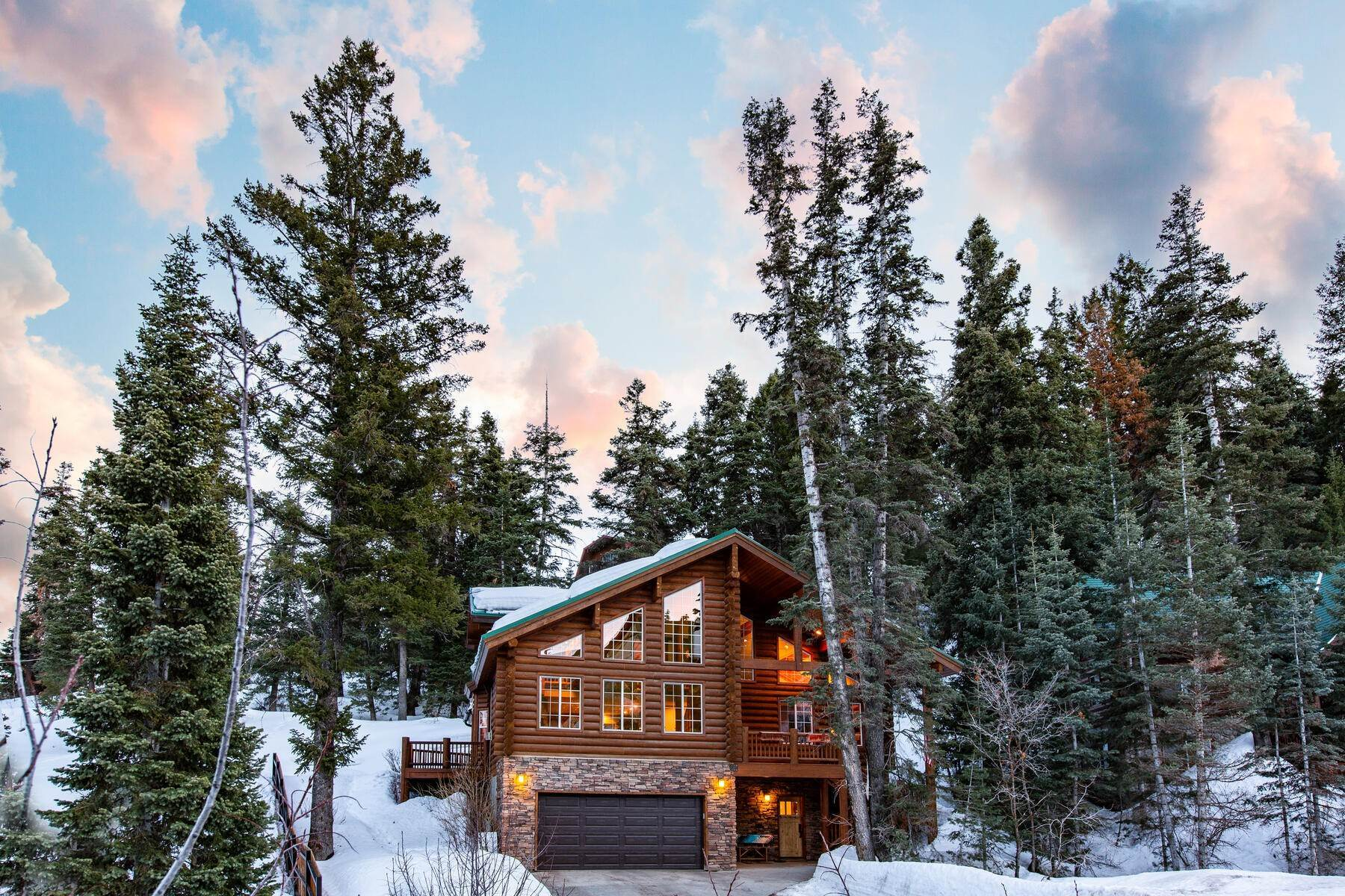 Single Family Homes for Sale at Reimagined Modern Log Home Shines in Summit Park 125 Aspen Ln Park City, Utah 84098 United States