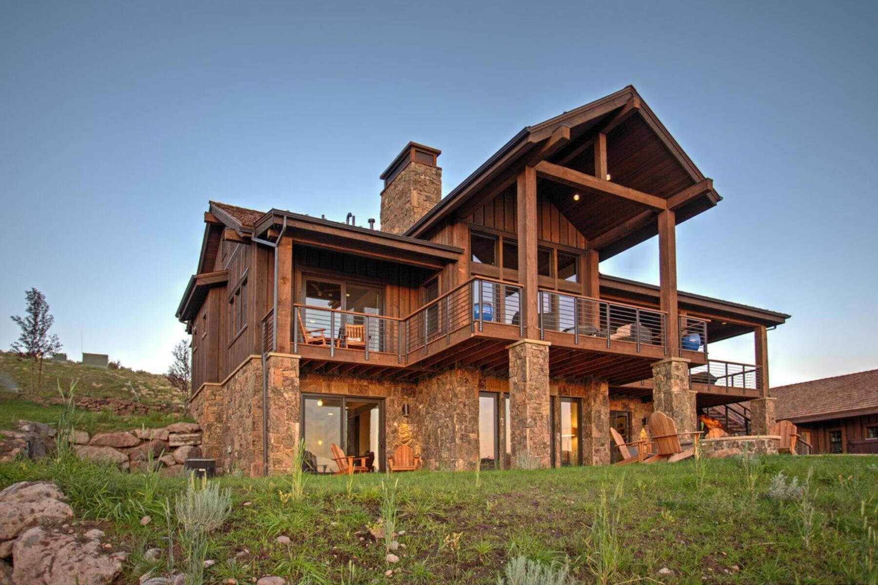 Single Family Homes for Sale at Expanded Juniper Cabin with Spectacular Views! 5941 N Shooting Star Circle Heber City, Utah 84032 United States