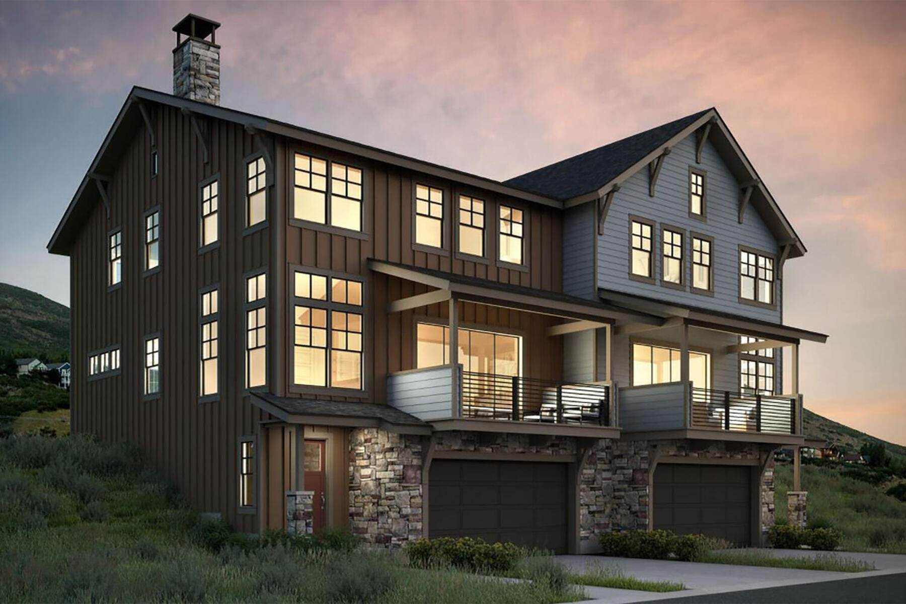 townhouses for Sale at New Construction Townhome Just Minutes From Park City 12732 N Belaview Way, Lot 12 Hideout Canyon, Utah 84036 United States