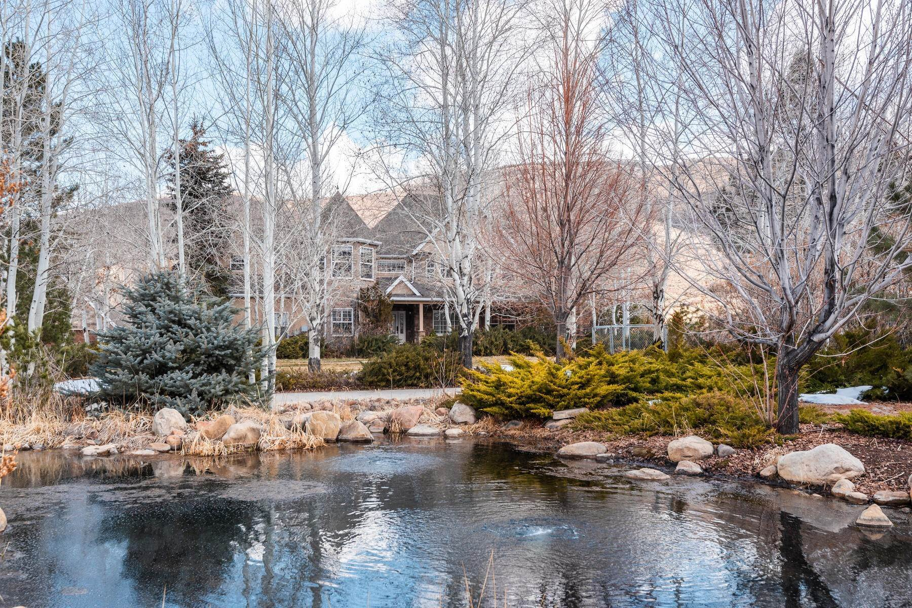 Single Family Homes for Sale at 3.39 Acre Gated Equestrian Estate in the Kamas Valley- 20 Minutes from Park City 595 E Gristmill Lane Kamas, Utah 84036 United States