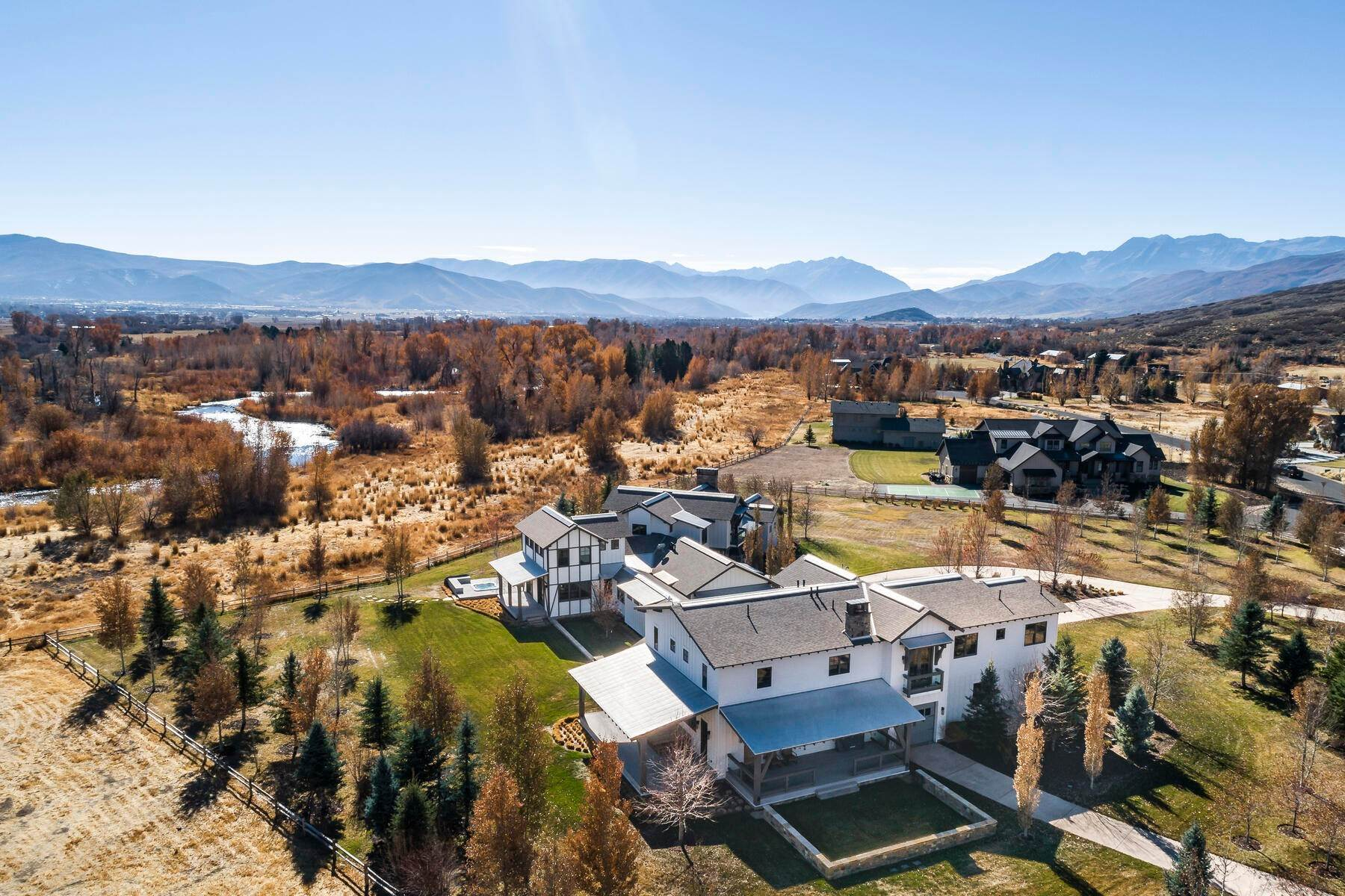 3. Single Family Homes for Sale at Picture-Perfect Contemporary Rustic Elegance on the Provo River 2370 N River Meadows Parkway Midway, Utah 84049 United States
