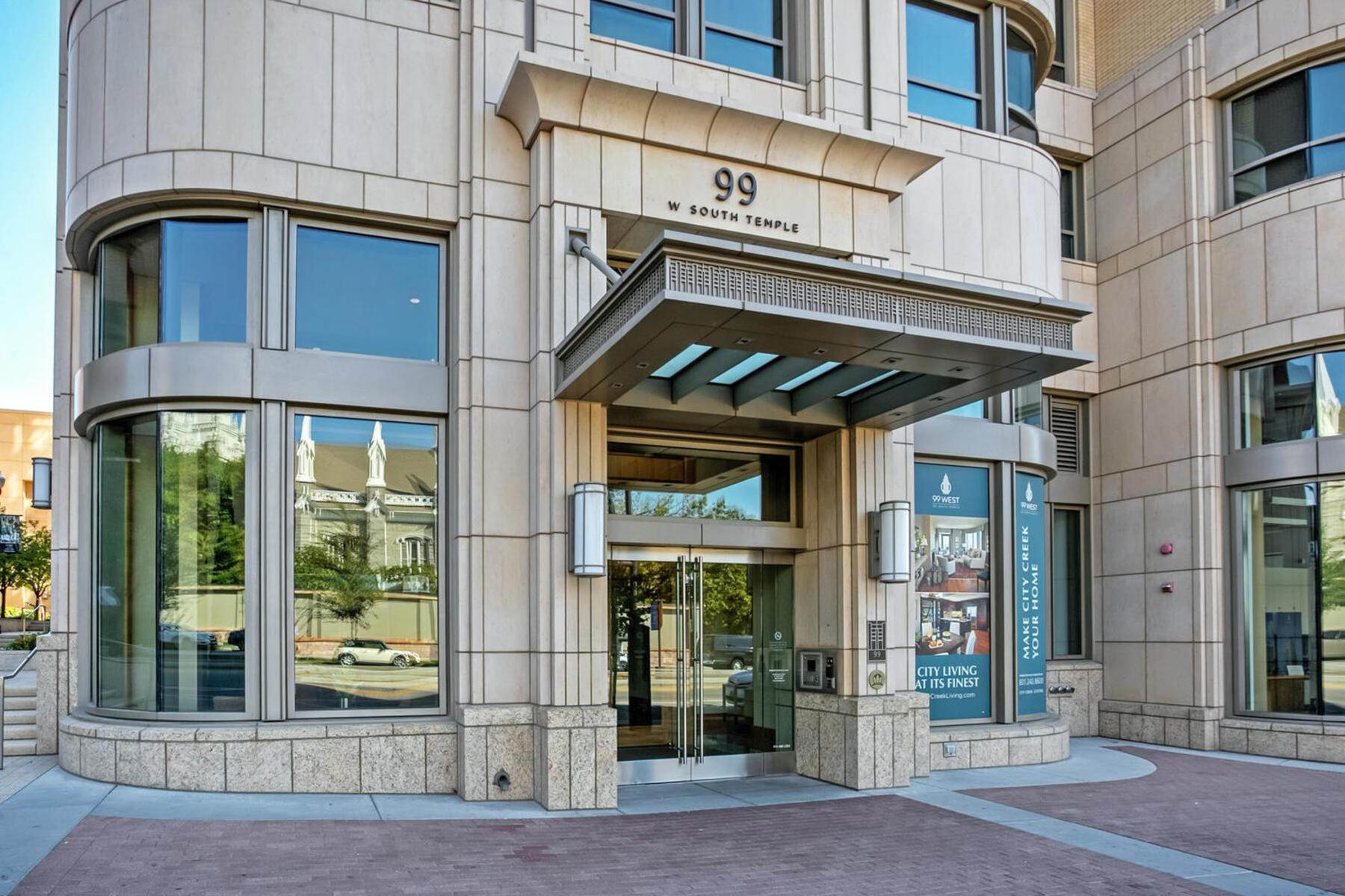Condominiums at Rarely Available High Floor 99 West Condo 99 W South Temple #2306 Salt Lake City, Utah 84101 United States