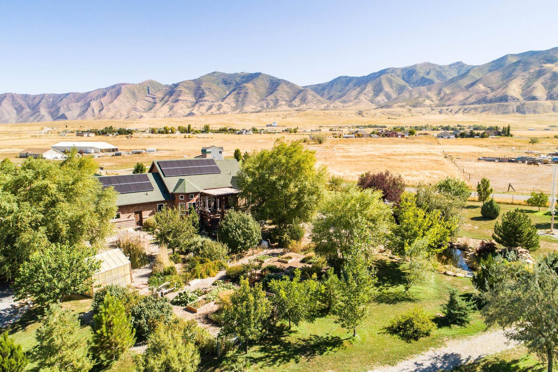 Single Family Homes for Sale at The Home Was Built to be Self-Sufficient 4949 Ashlee Way Erda, Utah 84074 United States
