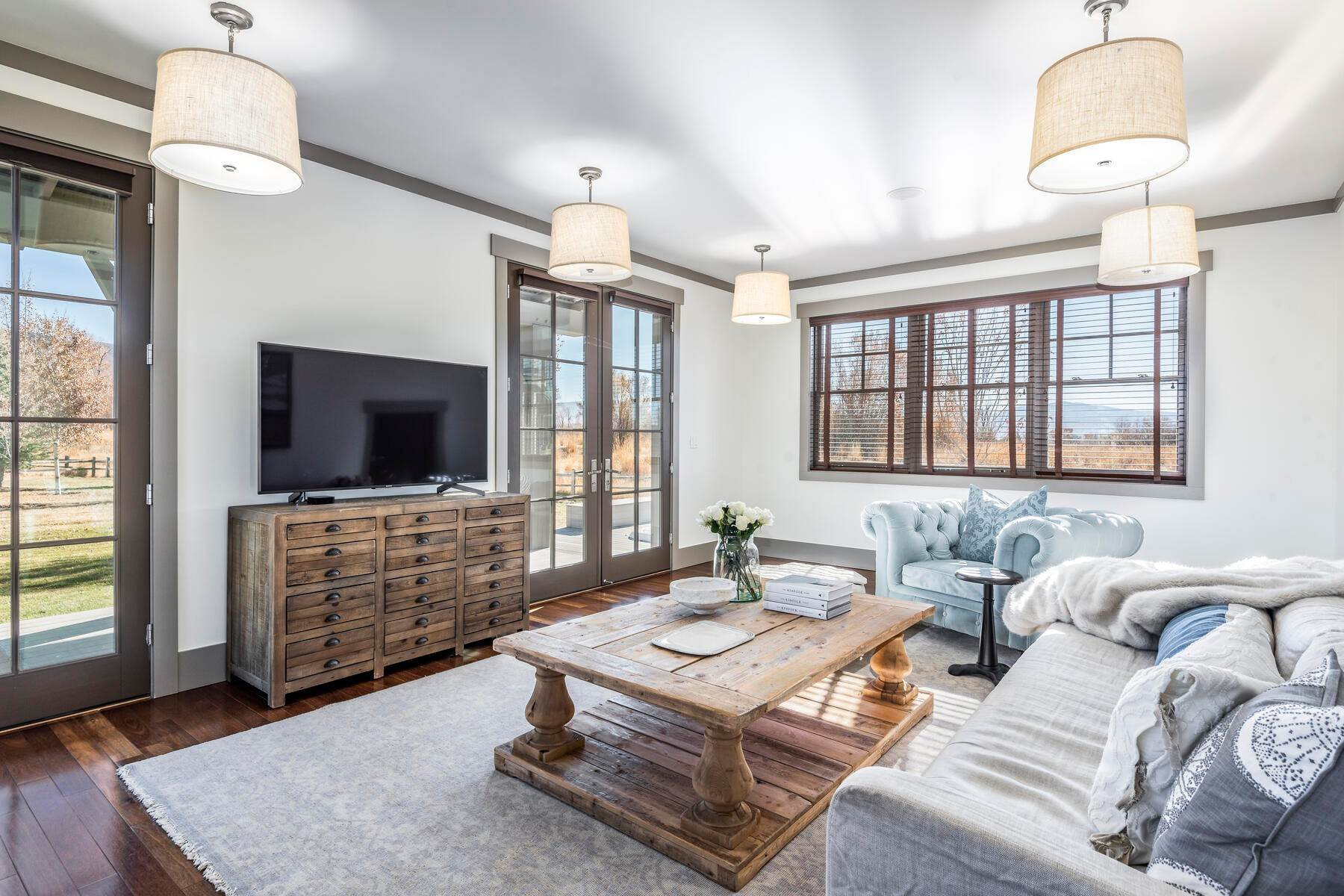 32. Single Family Homes for Sale at Picture-Perfect Contemporary Rustic Elegance on the Provo River 2370 N River Meadows Parkway Midway, Utah 84049 United States
