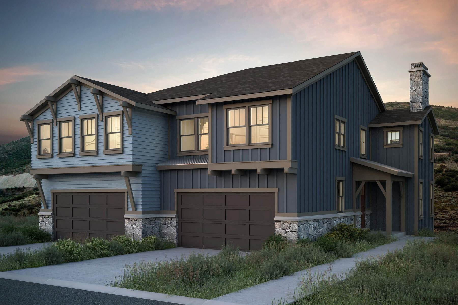 Single Family Homes for Sale at New Construction Townhome Just Minutes From Park City Lot #19 at Deer Springs Hideout Canyon, Utah 84036 United States