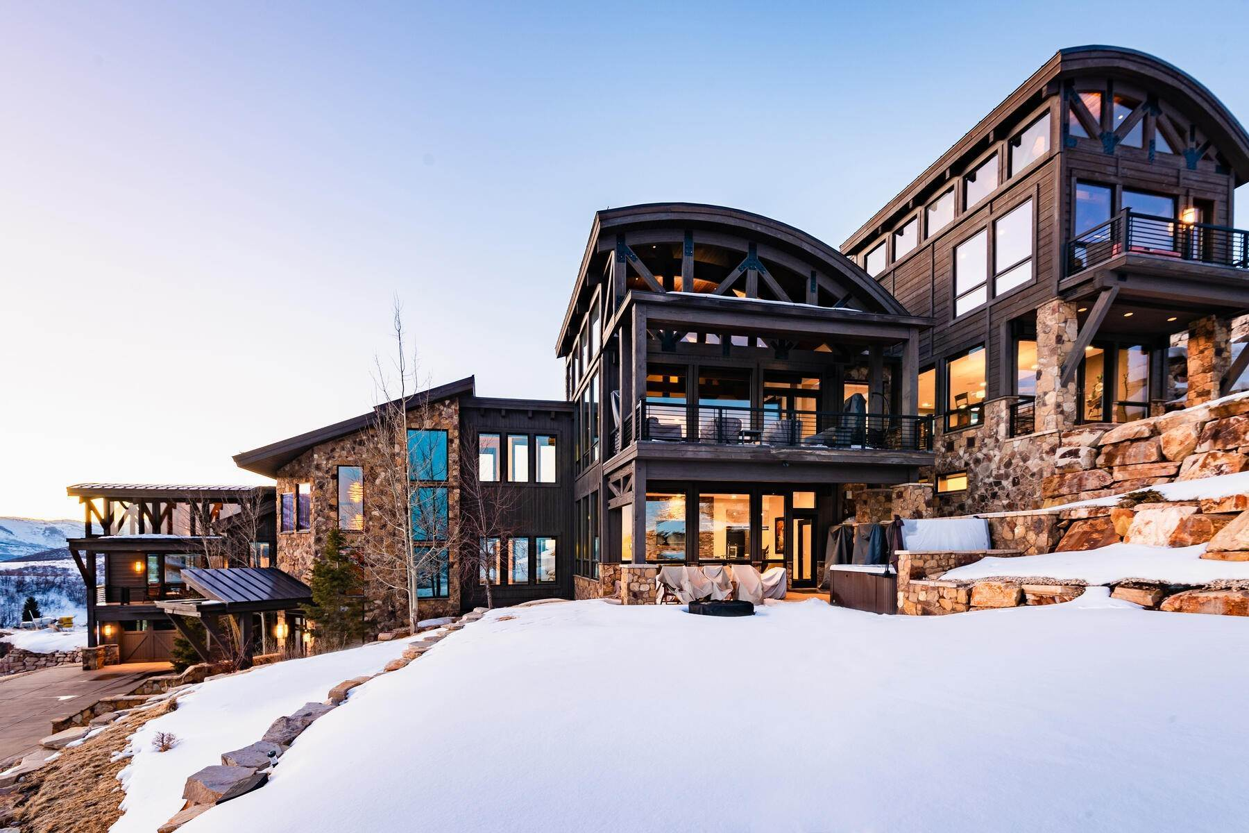 Single Family Homes for Sale at Deer Valley Mountain Contemporary Masterpiece 11380 N Snowtop Rd Park City, Utah 84060 United States