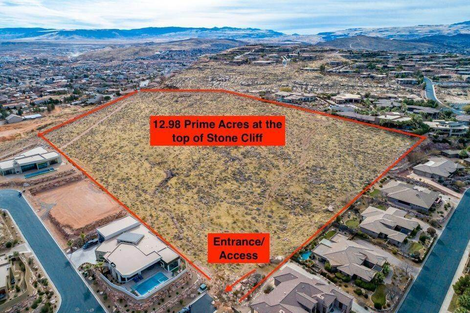 Land for Sale at 13+/- acres above Stone Cliff St. George, Utah 84770 United States