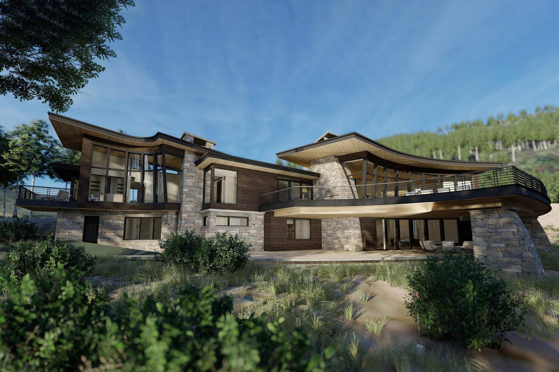 Single Family Homes for Sale at Luxury Has a New Address 256 White Pine Canyon Rd Park City, Utah 84060 United States