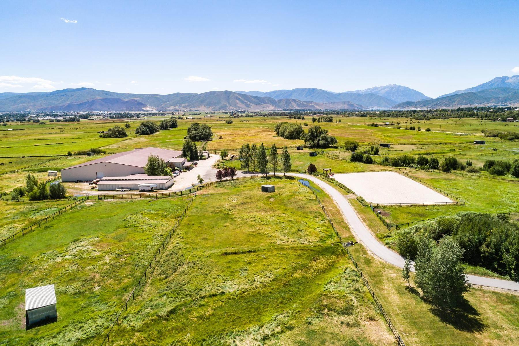 Farm and Ranch Properties for Sale at Shamans Circle Ranch—61 Acres with an Indoor Riding Facility in Heber 1336 N 1750 W Heber City, Utah 84032 United States
