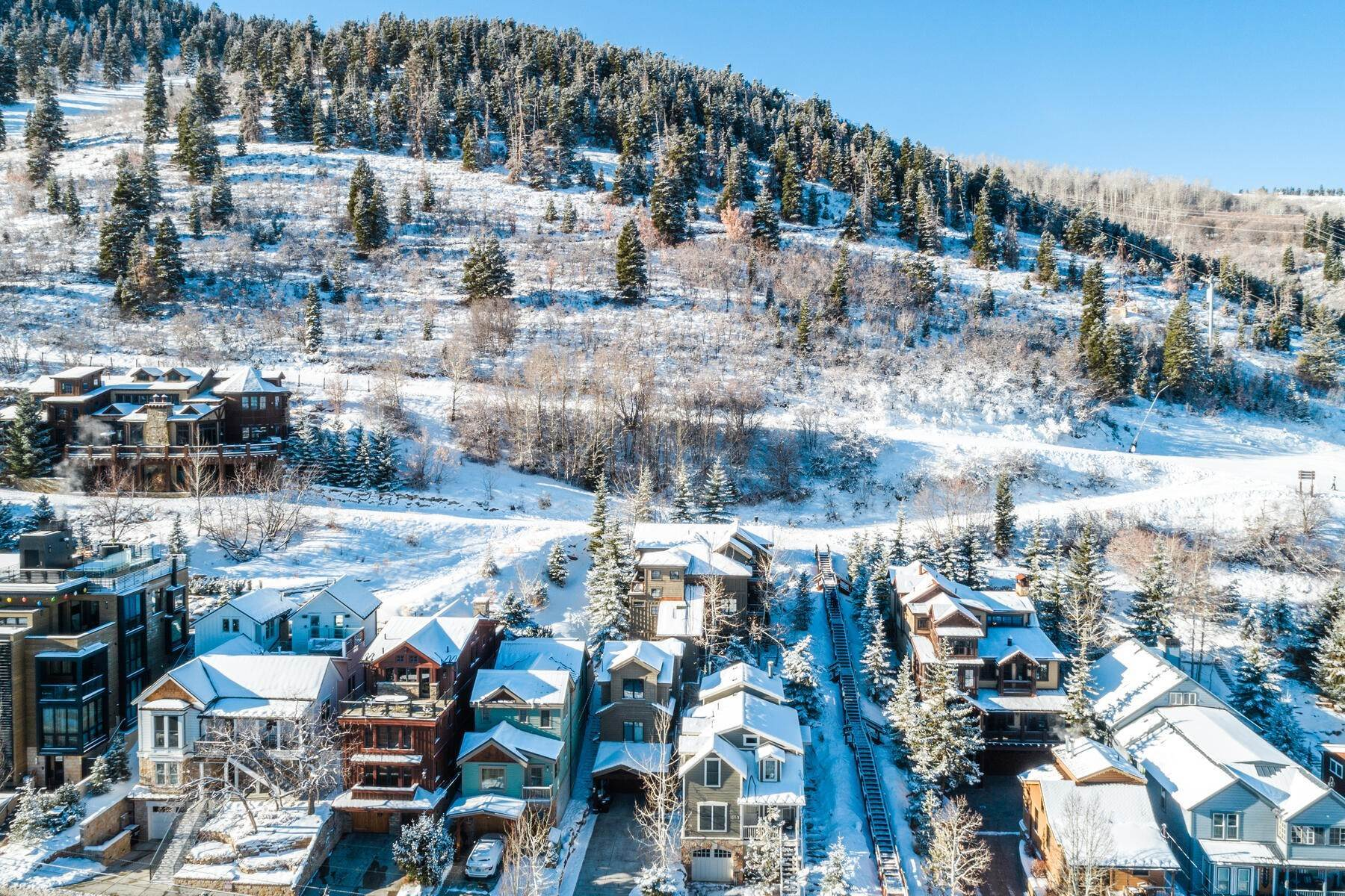 "50. Single Family Homes for Sale at ""The Woodside Estate."" Old Town, Park City's Ultimate True Ski-In Residence. 561 Woodside Avenue Park City, Utah 84060 United States"