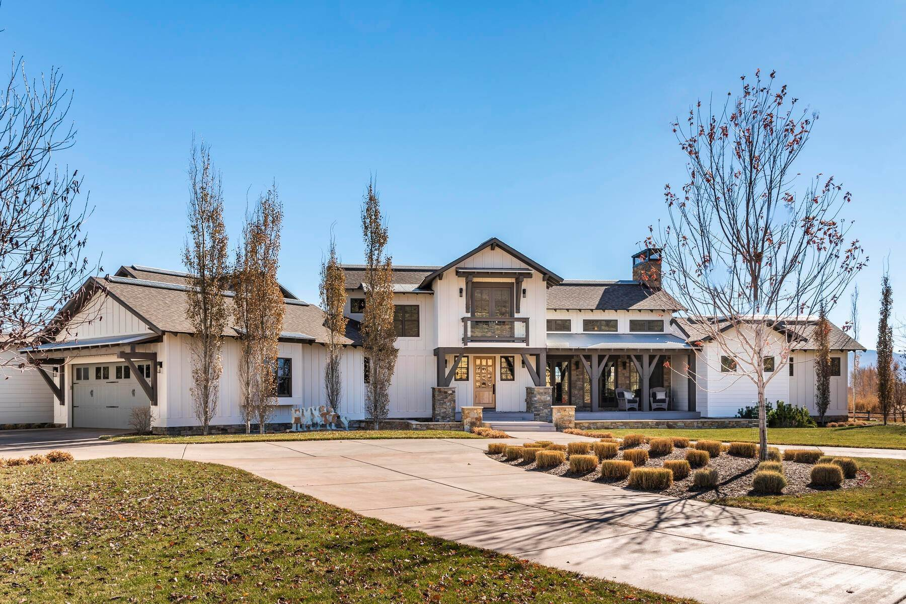 Single Family Homes for Sale at Picture-Perfect Contemporary Rustic Elegance on the Provo River 2370 N River Meadows Parkway Midway, Utah 84049 United States