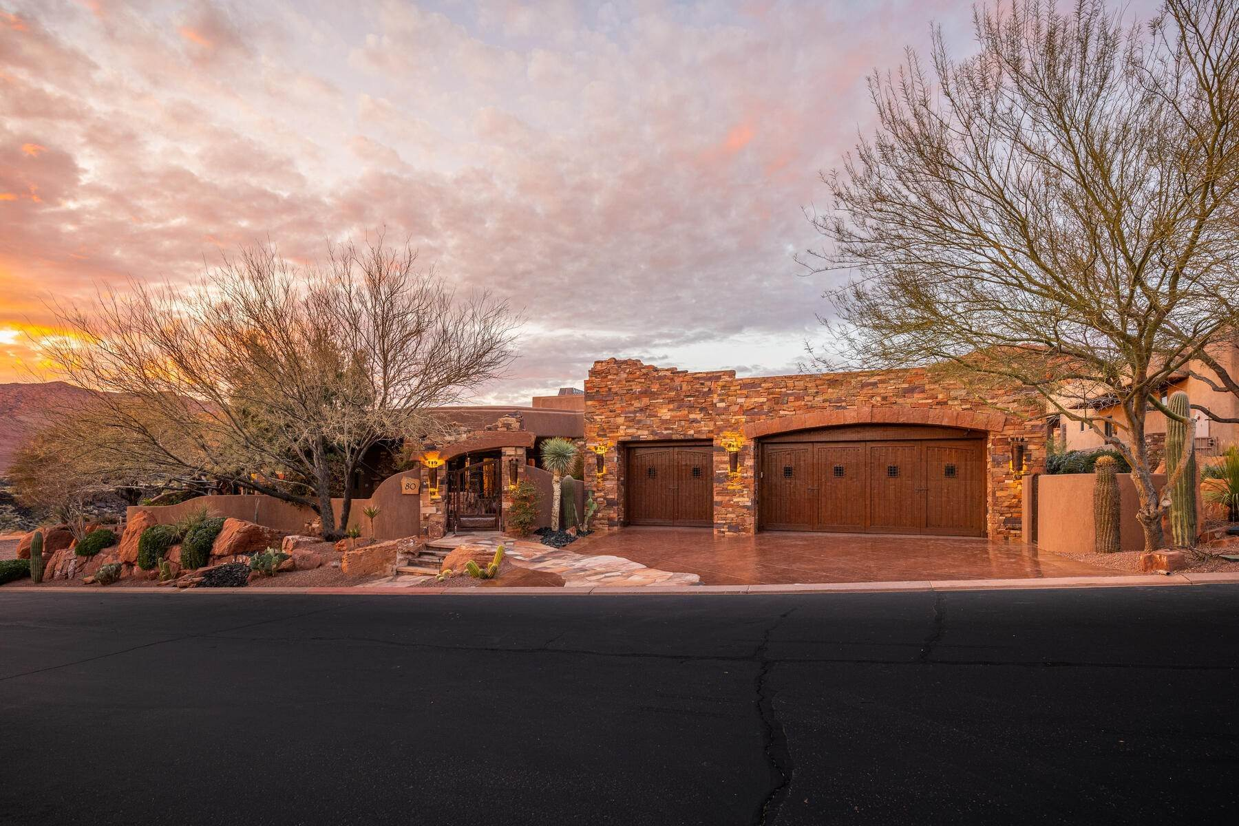 Single Family Homes for Sale at Backs To Snow Canyon State Park 3052 N Snow Canyon Parkway, #80 St. George, Utah 84770 United States