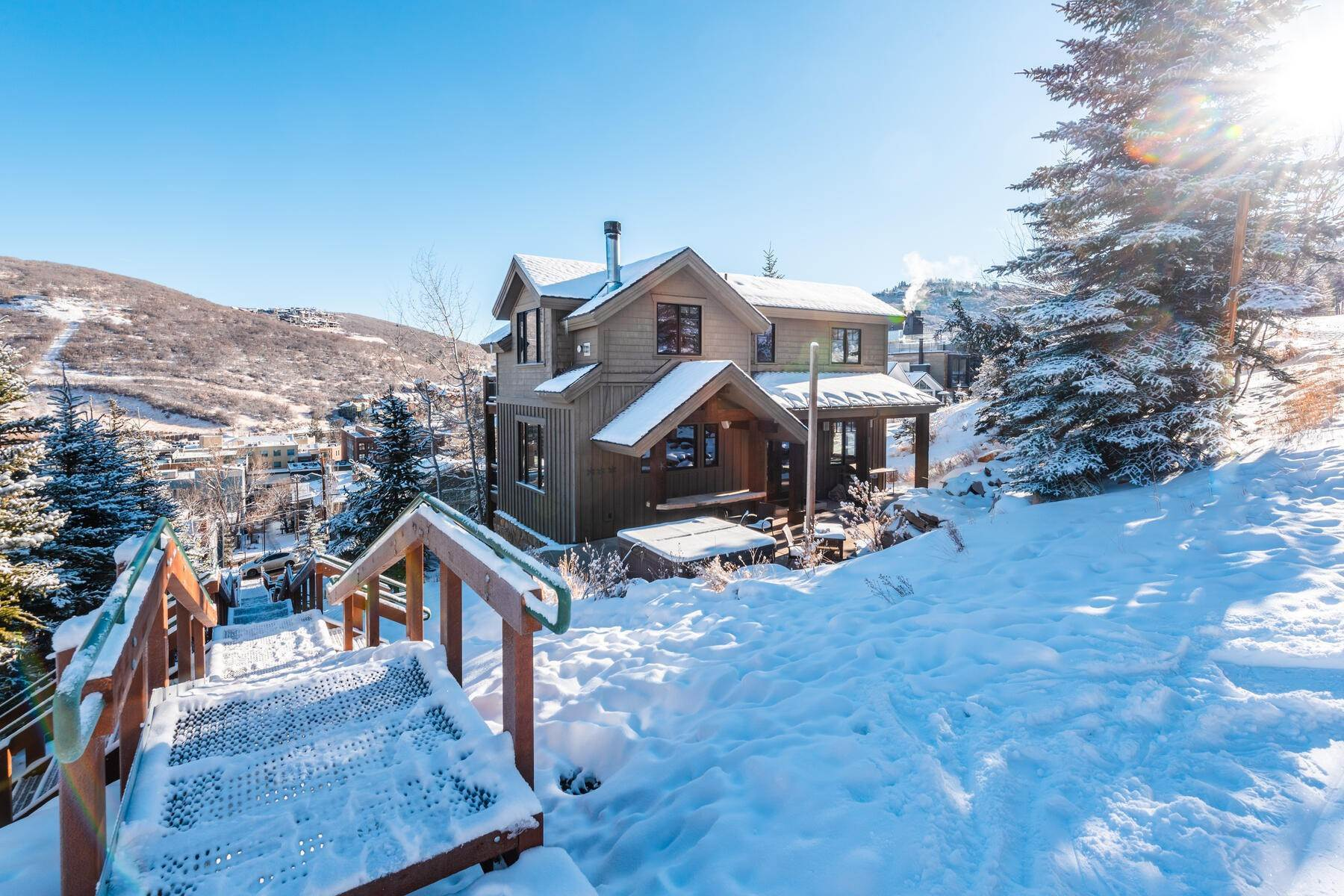 "41. Single Family Homes for Sale at ""The Woodside Estate."" Old Town, Park City's Ultimate True Ski-In Residence. 561 Woodside Avenue Park City, Utah 84060 United States"