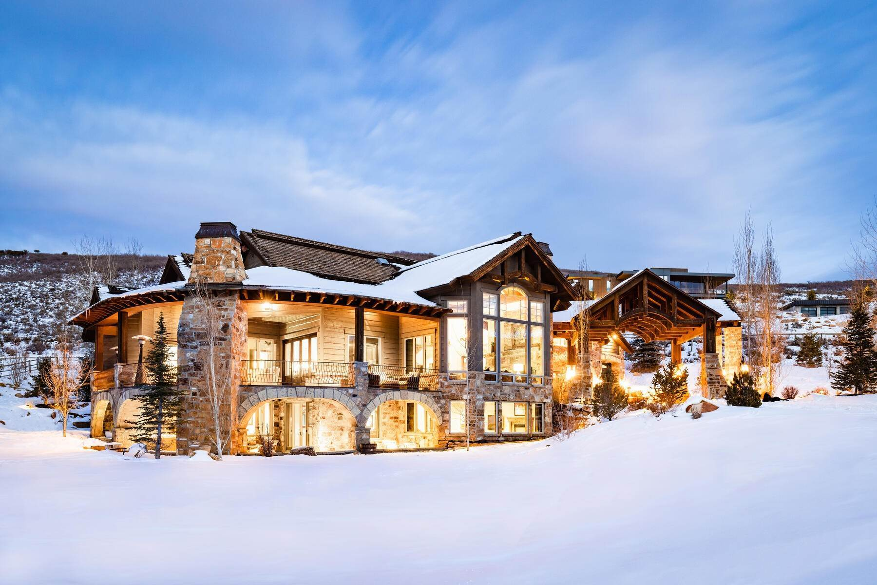 2. Single Family Homes for Sale at Rare Ranch Creek Estates Home Boasts over 3 Acres with Unparalleled Views 4400 N Ranch Creek Ln Park City, Utah 84098 United States