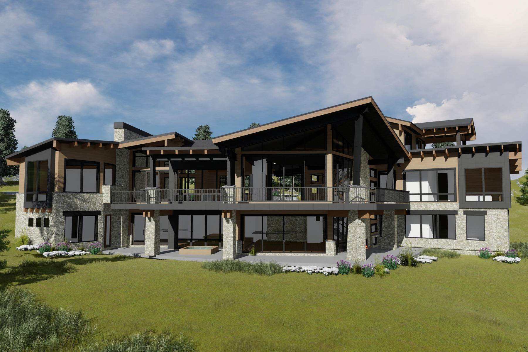 Single Family Homes for Sale at Spectacular Ski-In/Ski-Out Contemporary Home with Unobstructed Views 28 Red Cloud Trail Park City, Utah 84060 United States