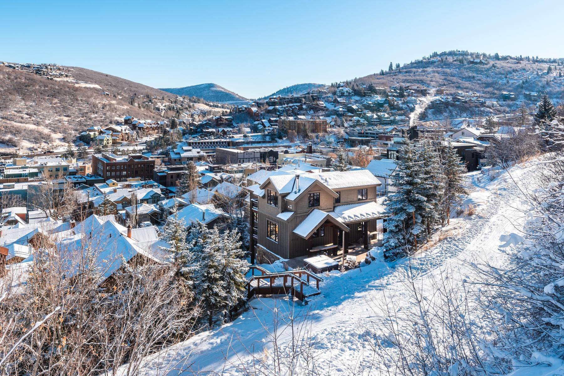 "43. Single Family Homes for Sale at ""The Woodside Estate."" Old Town, Park City's Ultimate True Ski-In Residence. 561 Woodside Avenue Park City, Utah 84060 United States"