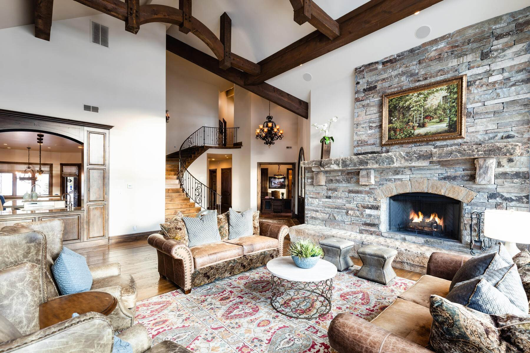 4. Single Family Homes for Sale at Rare Ranch Creek Estates Home Boasts over 3 Acres with Unparalleled Views 4400 N Ranch Creek Ln Park City, Utah 84098 United States