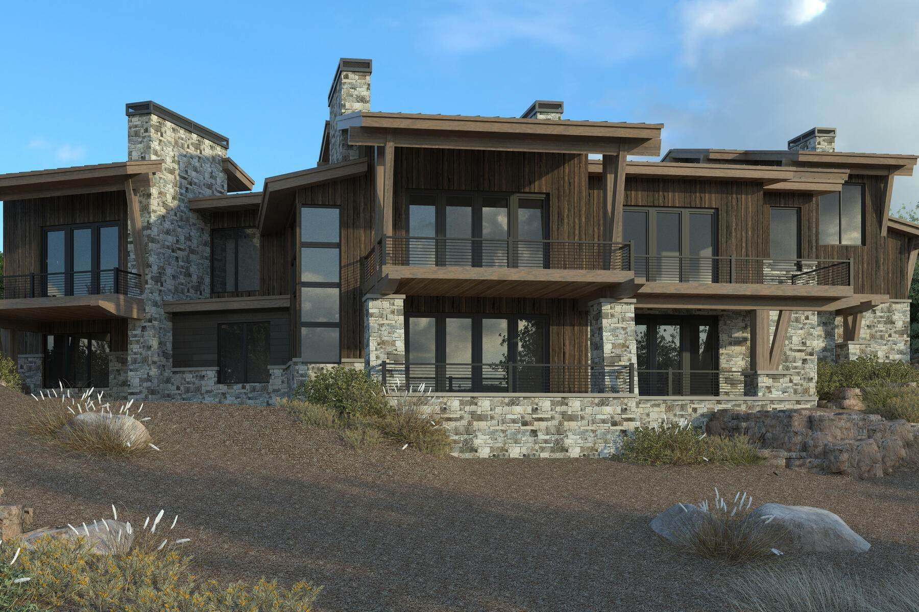 Single Family Homes for Sale at New Construction Home With Mountain Views 4304 Aspen Camp Loop Park City, Utah 84098 United States